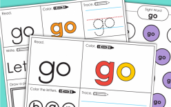 """Write The Sight Words: """"Go"""""""