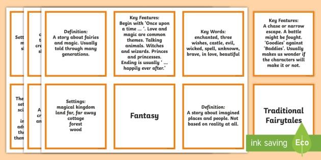 Story Genres Matching Activity Teacher Made