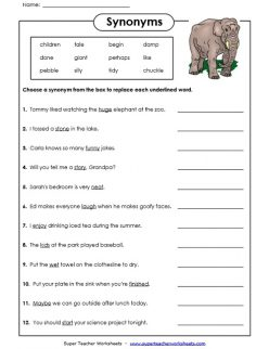 Practice Test: Synonyms And Antonyms