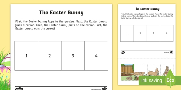 The Easter Bunny Story Sequencing Worksheet  Worksheet