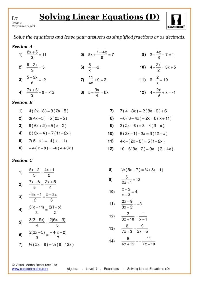 The Evaluating One Step Algebraic Expressions With Variable And No