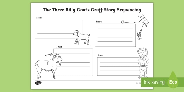 The Three Billy Goats Gruff Story Sequencing Worksheet