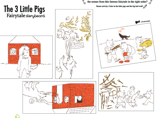 The Three Little Pigs Finger Puppets Play