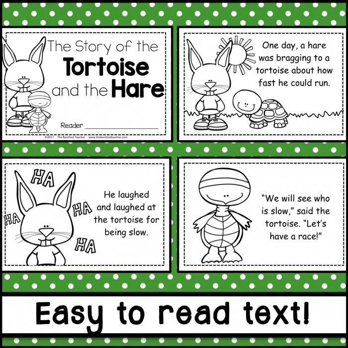 The Tortoise And The Hare Reader And Activities