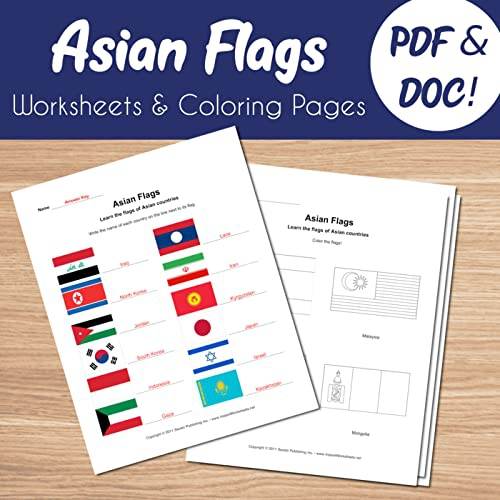 These  Worksheets Shows Flags Of Different African Countries