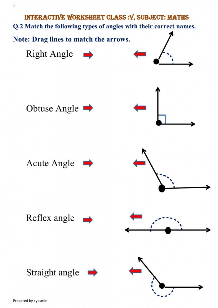 Types Of Angles Exercise