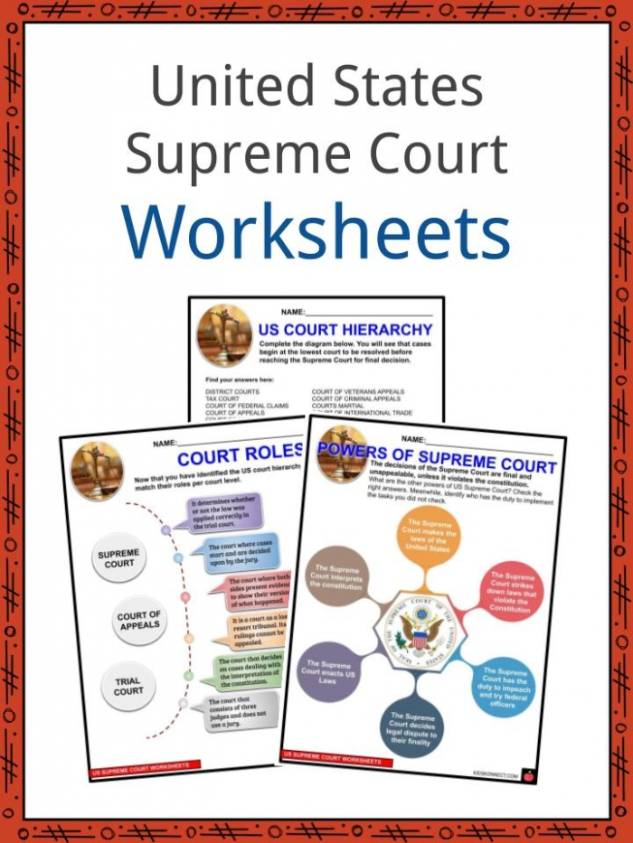 United States Supreme Court Facts  Worksheets   History For Kids