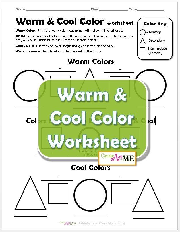 Warm   Cool Color Worksheet