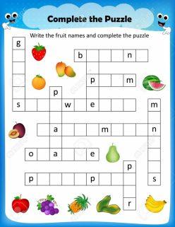 Picture Crossword: Fruit!