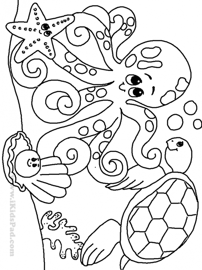 Worksheet  Under The Sea Coloring Pages For Toddlers Stunning Vbs