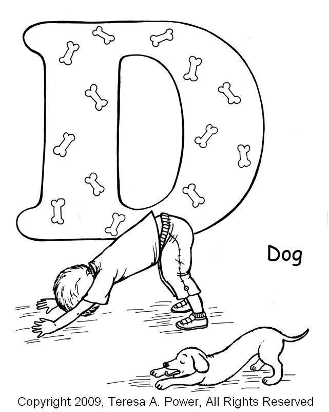Yoga For Kids Dog Pose Worksheets