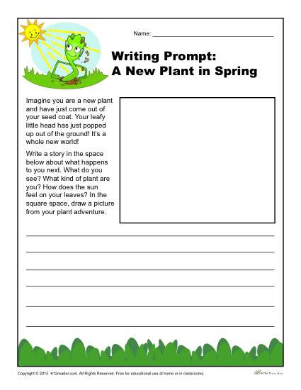 A New Plant In Spring Writing Prompt For Rd  Th And Th Grade
