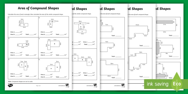 Area Of Compound Shapes Differentiated Activity Pack