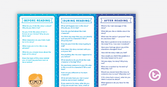Before  During And After Reading Fiction