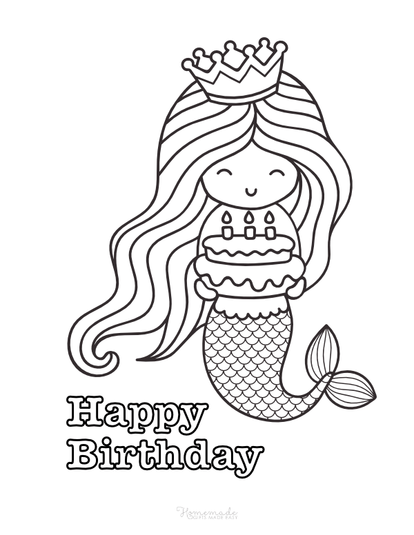 Best Happy Birthday Coloring Pages