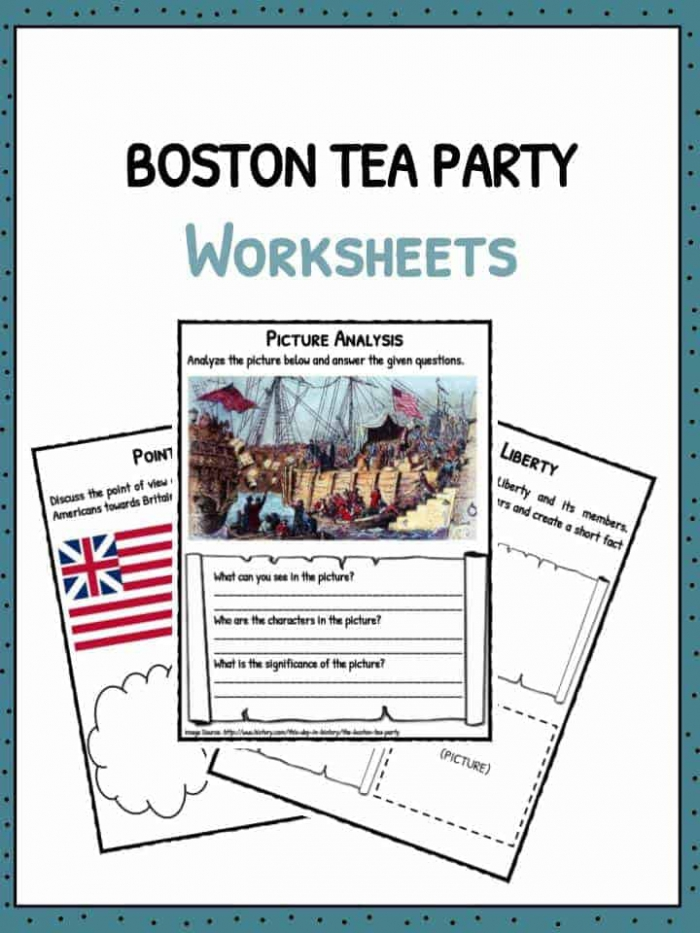 Boston Tea Party Facts  Information   Worksheets For Kids