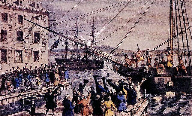 Boston Tea Partythe Tea Was Thrown Overboard At Night