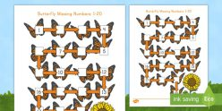 Butterflies: Comparing Numbers