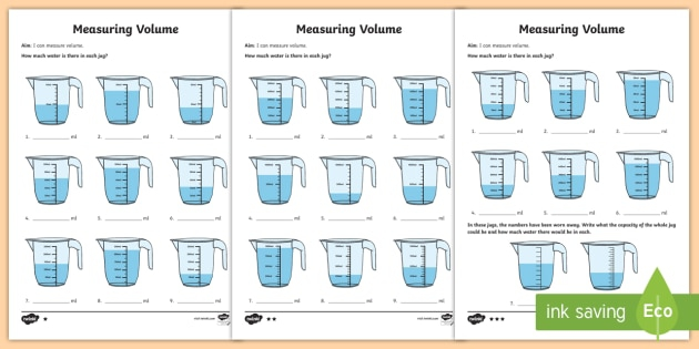 Capacity And Volume Differentiated Activity Teacher Made