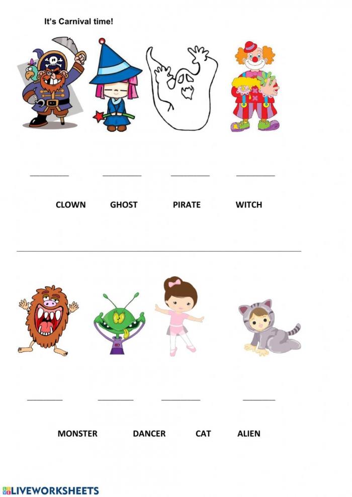 Carnival Interactive Worksheet