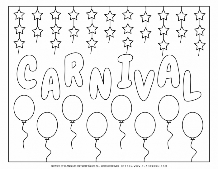 Carnival Party Poster  Planerium