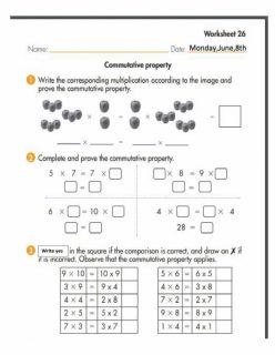 Properties Of Multiplication: Commutative