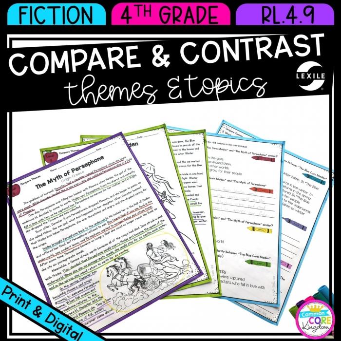 Compare   Contrast Theme Th Grade