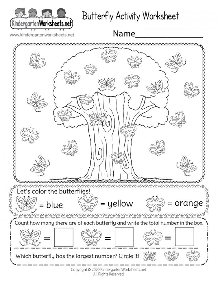 Comparing Numbers Butterflies Worksheets