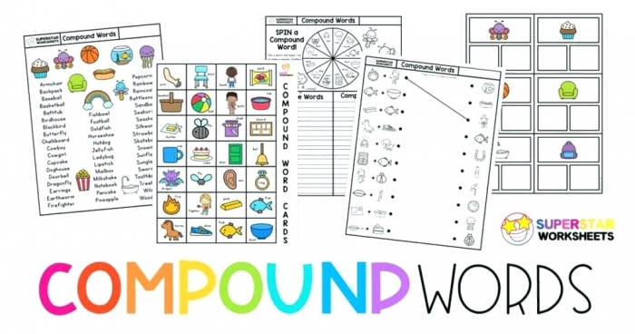 Compound Words Worksheet Superstar Worksheets Word Building
