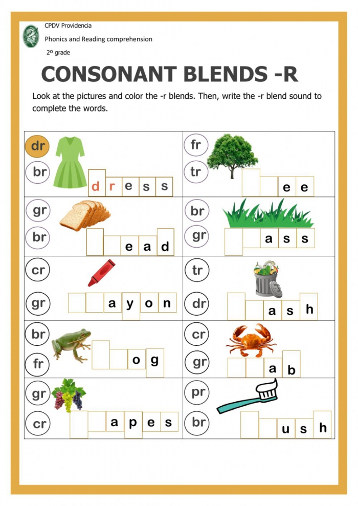 Consonant Blends With