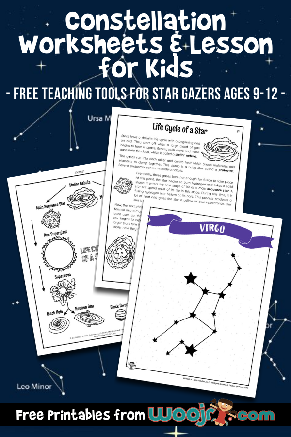 Constellation Worksheets   Lesson For Kids