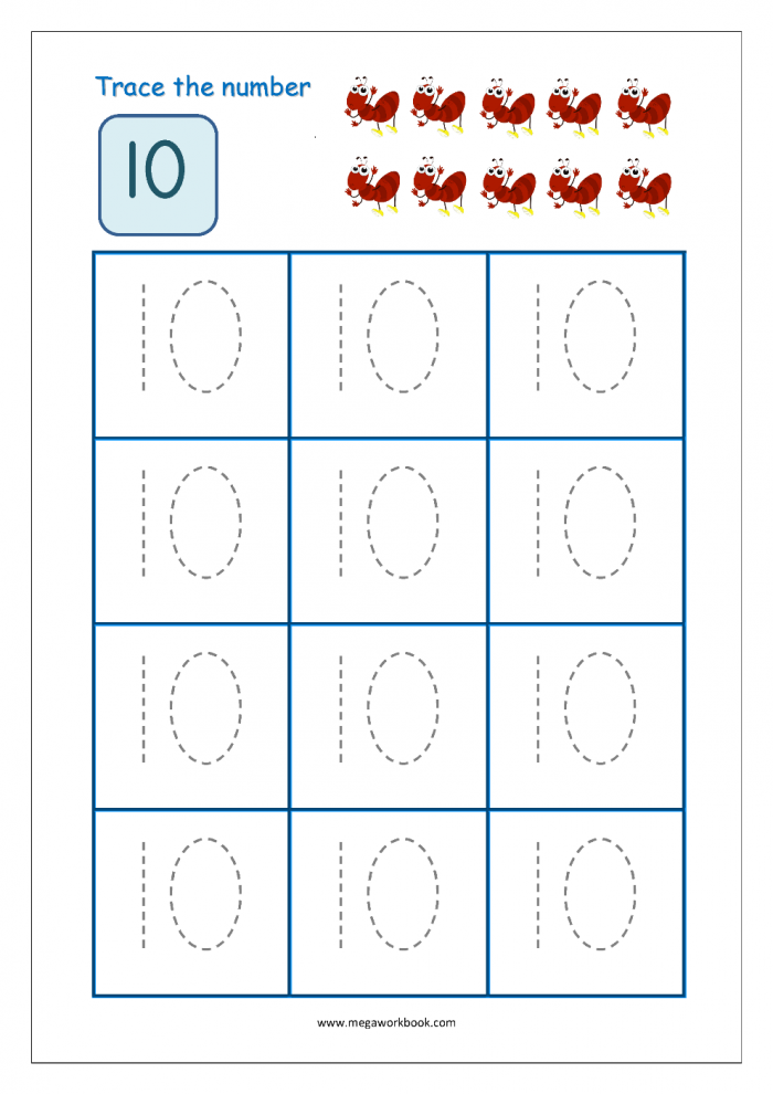 Count And Write Numbers To Worksheets Worksheet Fun Alphabet Trace