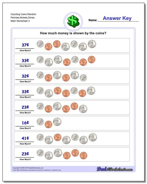 Counting Coins Pennies And Dimes Worksheets Nickels V Incredible