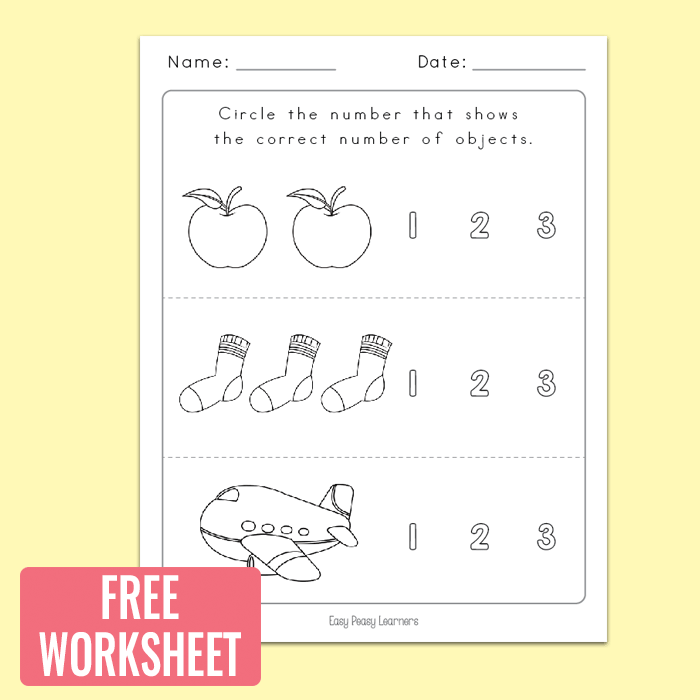 Counting To  Worksheets