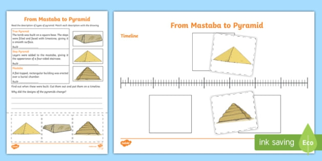 Different Types Of Egyptian Pyramid Worksheet  Worksheet
