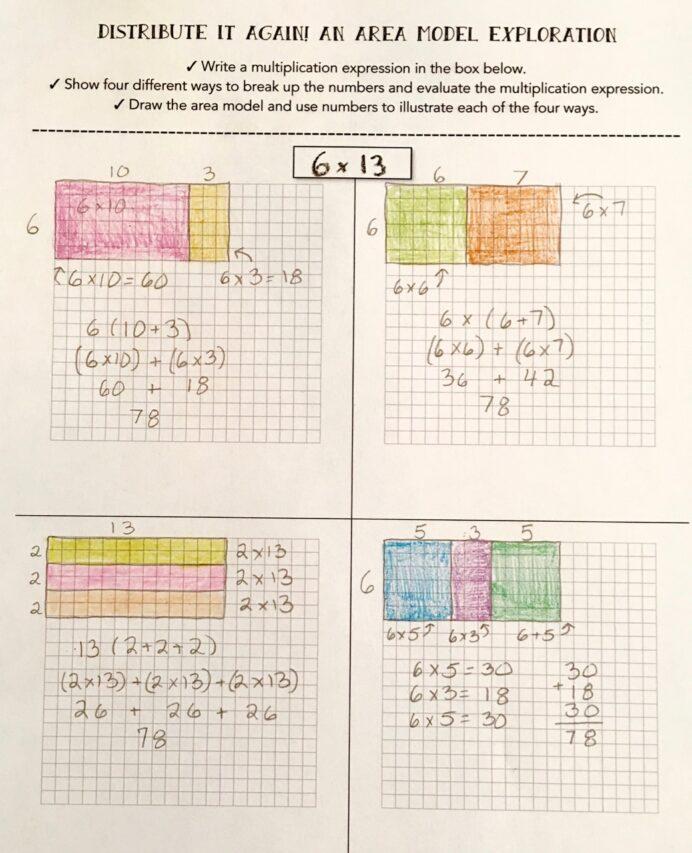 Distributive Property Of Multiplication Worksheets Grade