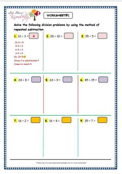Division With Repeated Subtraction