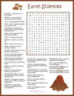 Earth Science Crossword: Landforms