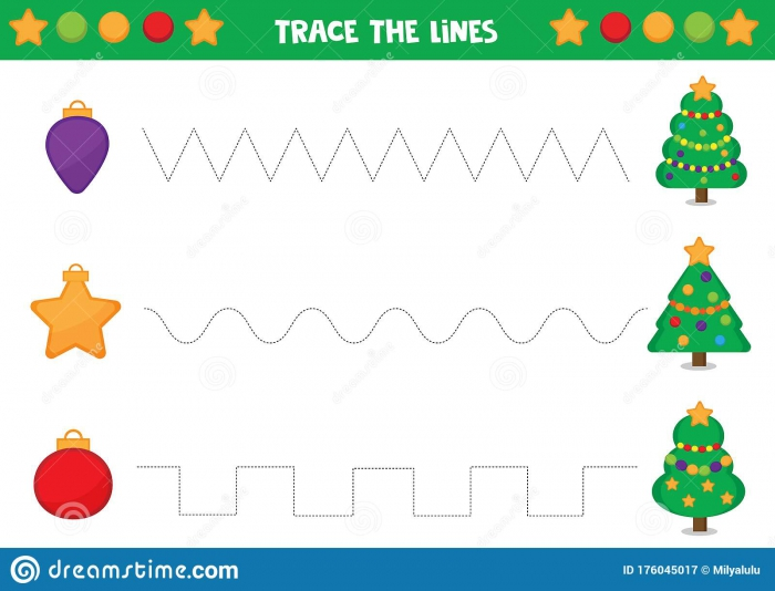 Educational Worksheet For Preschool Kids Tracing Lines With