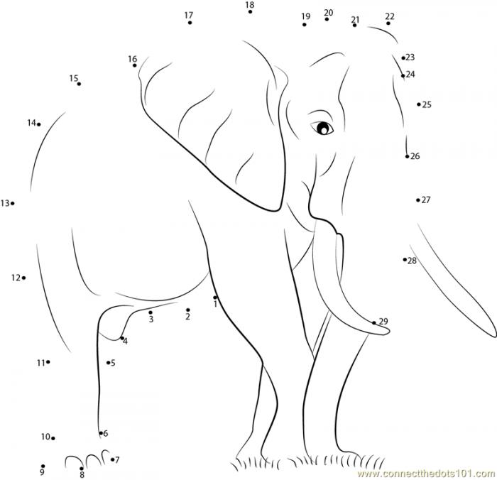 Elephant Poachers Dot To Dot Printable Worksheet Connectthedotscom