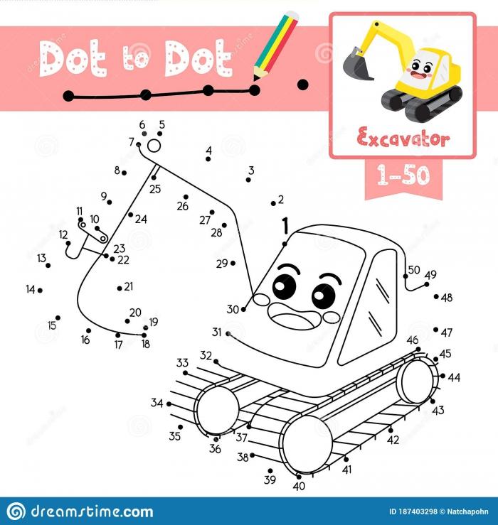 Excavator Dot Dot Stock Illustrations   Excavator Dot Dot Stock