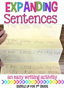 Expanding Sentences: Let S Get Complex!