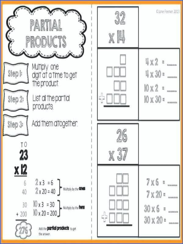 Fabulous Partial Products Worksheets Image Ideas Jaimie Bleck