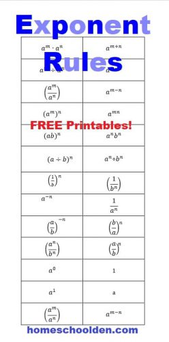 Exponents Rules