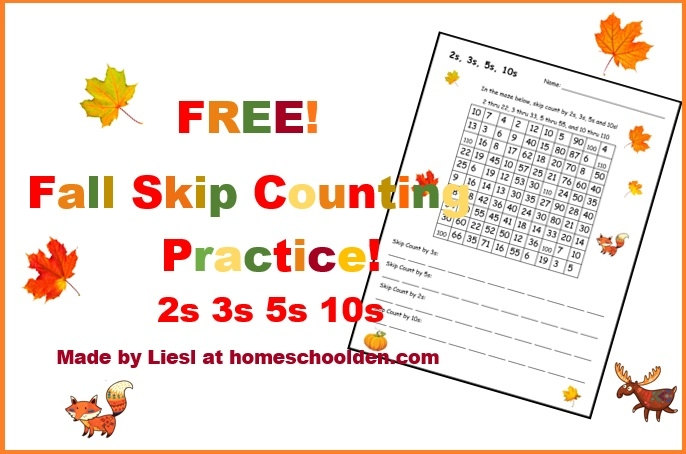 Free Fall Skip Counting Mazes
