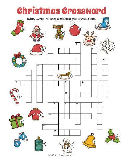 Free Printable Christmas Crossword