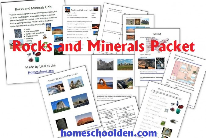 Free Rocks And Minerals Packet  Pages
