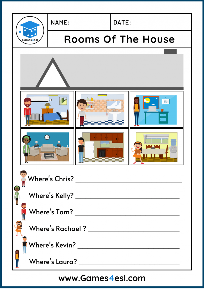Free Rooms Of The House Worksheets