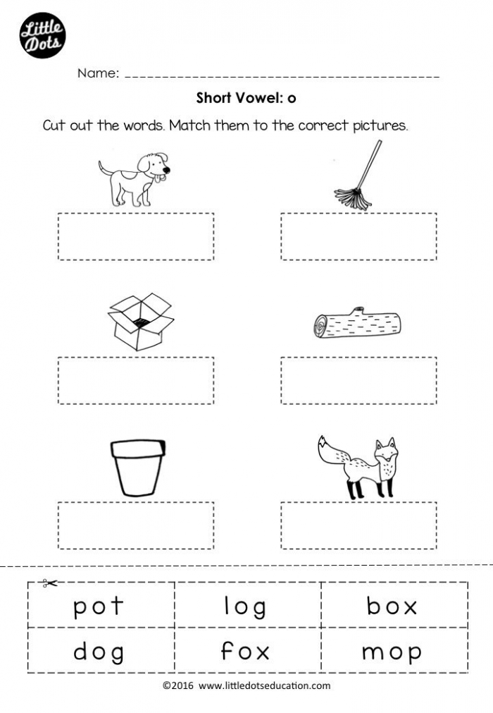 Free Short Vowel O Worksheet And Activity For Preschool Or