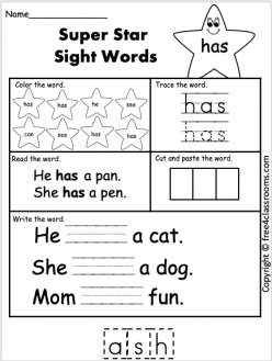 Sight Words: About To Any